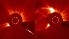 Kometa uderzyła w Słońce. Wywołała wybuch?