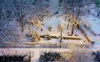 Niedzielny poranek ze śniegiem
