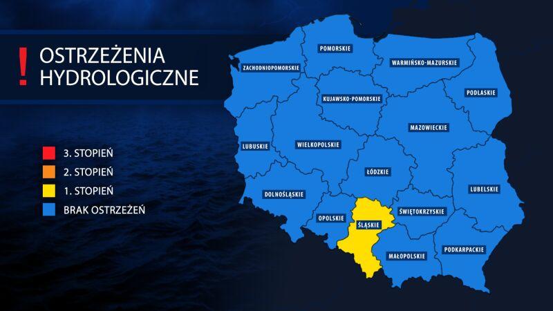 Ostrzeżenia hydrologiczne (tvnmeteo.pl za IMGW)