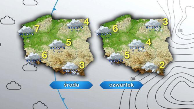 Pogoda na środę i czwartek