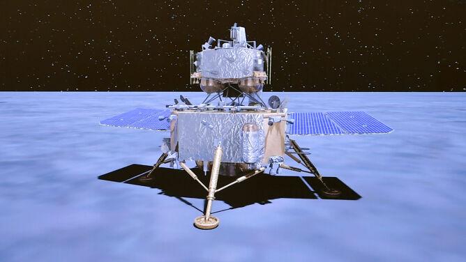 Sonda Chang'e-5 zebrała mniej księżycowego materiału niż planowano