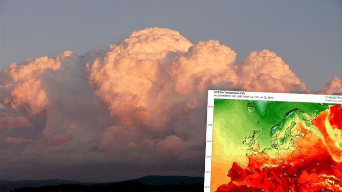 Niezwykle wypiętrzone cumulonimbusy. <br />Przyniosą gwałtowną aurę