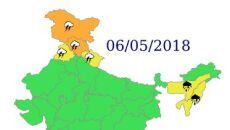 Ostrzeżenia przed niebezpiecznymi zjawiskami nad Indiami - 6 maja (IND)