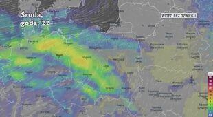 Prognozowane opady w ciągu kolejnych dni (Ventusky.com)