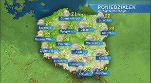 Pogoda na poniedziałek 6.07