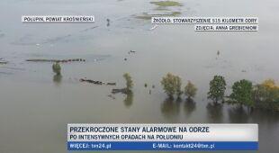 W miejscowościach nad rzeką wystąpiły podtopienia
