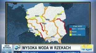 Sytuacja hydrologiczna w Polsce (TVN24)