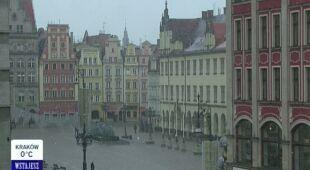 We Wrocławiu spadł śnieg/TVN24