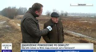 Mieszkańcy Świniar boją się o swój dobytek (TVN24)